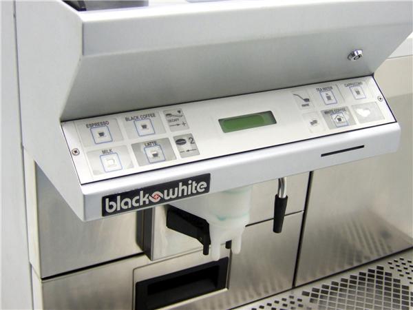 Black and White CT Coffee Machine Controls