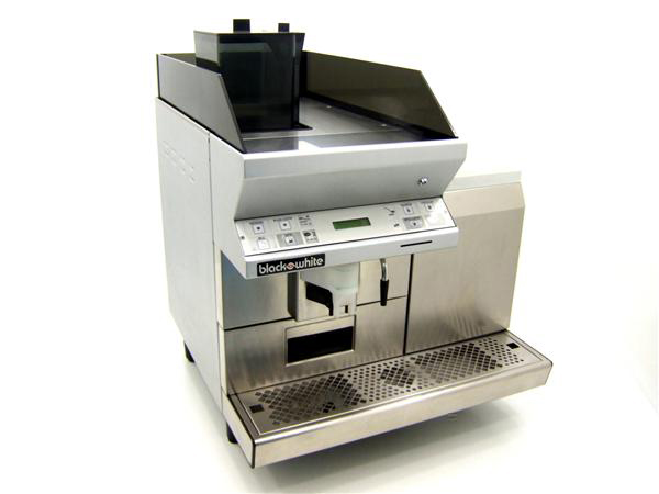 Black and White CT Coffee Machine Front