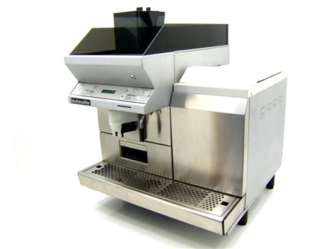 Black and White CT Coffee Machine Front Right