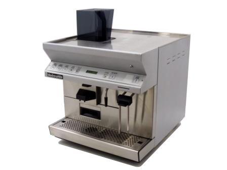 Black and White CTS Espresso Coffee Machine Angled Left