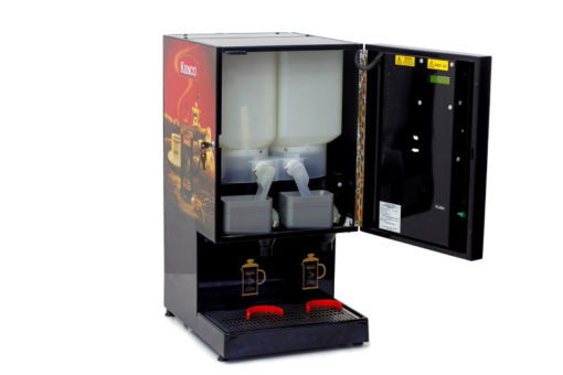 Kenco-Fully-Automatic-Cafetiere-Dispenser-Front-Open