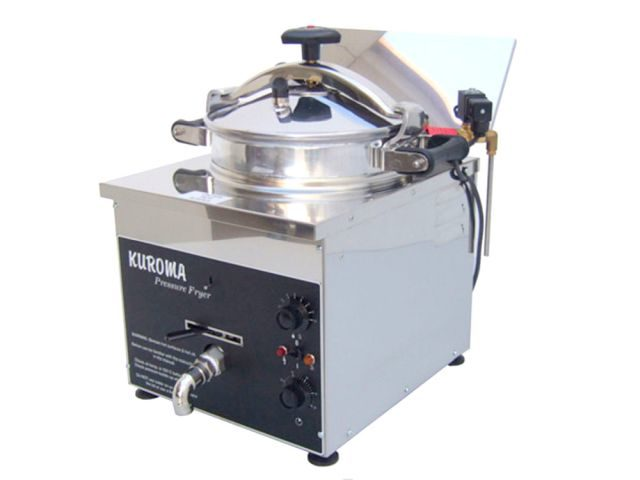 Kuroma Counter Top Chicken Pressure Fryer Front Angled