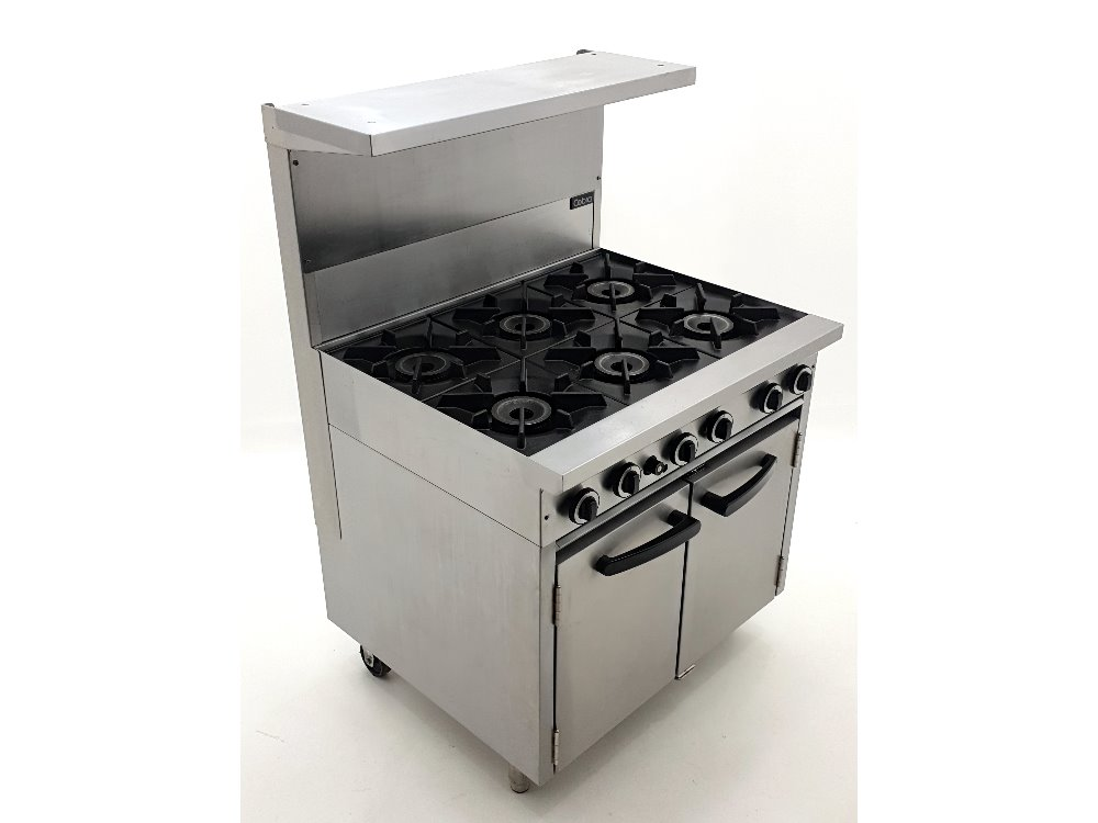 Blue Seal Cobra 6 Burner Oven With Overhead Grill Shelf