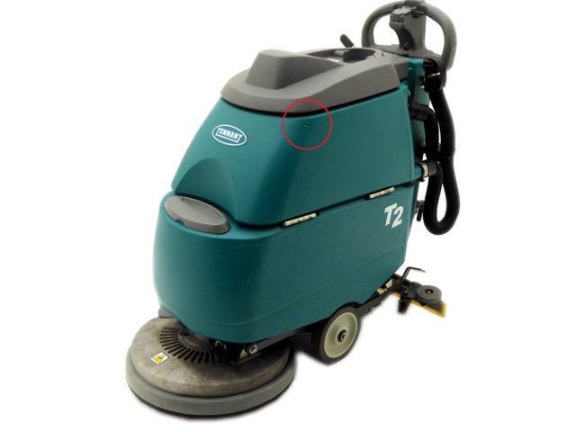 Tennant T Scrubber Dryer Damage