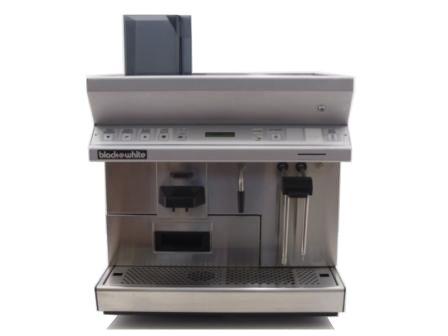 Black and White CTS Espresso Coffee Machine Front