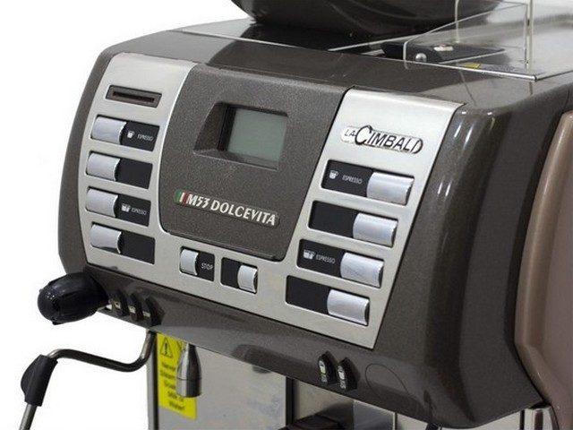 La Cimbali M Dolcevita Coffee Machine Controls