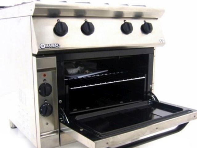 Mareno CFE G Dual Fuel Oven Range Open