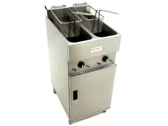 Valentine V Double Fryer Front