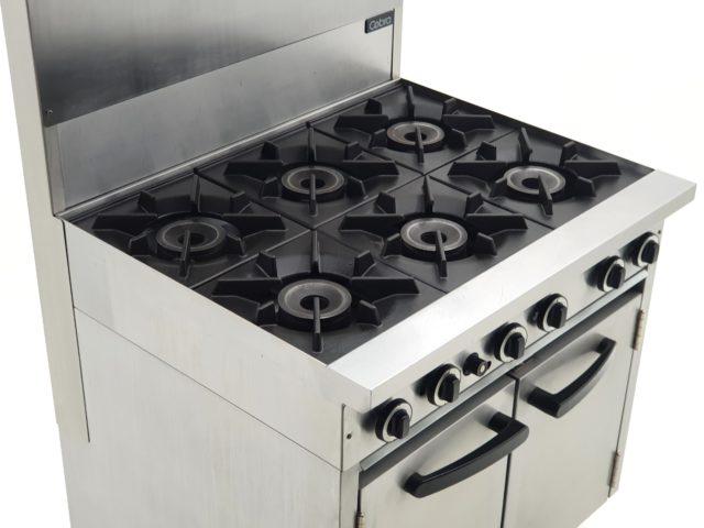 Blue Seal Cobra Burner Oven Range With Overhead Grill Shelf
